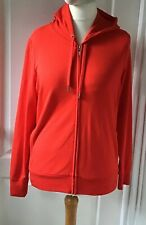 MARKS & SPENCER Bright Red Hooded Sweatshirt - Size 14 - NEW