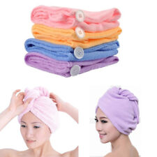 2 Microfiber Hair Wraps Magic Fast Dry Towel Drying Bath Twist Hat Spa Soft Cap