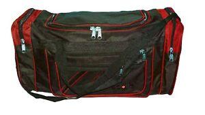 XL Reisetasche Sporttasche Trainingstasche Gym Bag schwarz-rot ca. 65x30x28cm