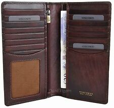 VISCONTI Mens Brown Leather RFID  Long Jacket Wallet - Gift Boxed - TSC45