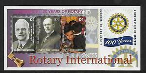 PNG 2005 100 Years Rotary Sheetlet Complete MUH/MNH as Issued