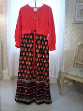 Vintage Dela-Ann Creation Loungewear Dress Women's Small ~ Well Preserved ~