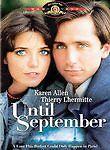 Until September (DVD) SHIPS NEXT DAY Karen Allen, Thierry Lhermitte