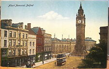 Irish Postcard Prince Albert Memorial Belfast Northern Ireland Uk Jv 16643