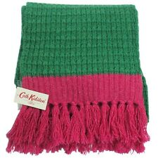 Cath Kidston Benjy Scarf - tuft fringing (Green) 100% wool *100% authentic* BNWT