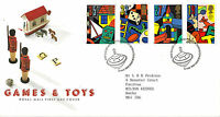 16 MAY 1989 TOYS AND GAMES ROYAL MAIL FIRST DAY COVER BUREAU SHS