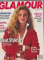 OCT 1989 GLAMOUR vintage womens fashion magazine