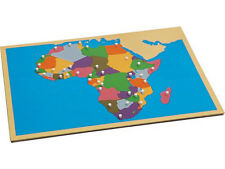New Montessori Puzzle Map of Africa with Control Maps