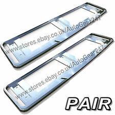 2 Car Number License Registration Plate Chrome Trim Surround Frame Holder. Pair