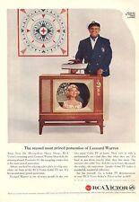 1959 RCA Victor Color TV Television PRINT AD