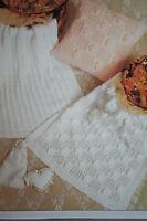 Baby's Pram Blanket and Cushion Knitting Pattern