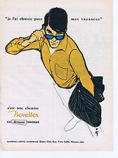 PUBLICITE ADVERTISING 064 1961 NOVOLTEX c'est une chemise par René GRUAU