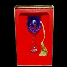 1 ( One) GORHAM Lady Anne Cut Crystal Sapphire Wine Hock Ornament -DISCONTINUED