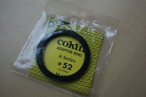 COKIN A SERIES ADAPTOR RING 52 MM, NEW.