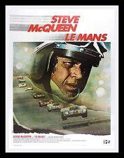 LE MANS * CineMasterpieces LEMANS STEVE MCQUEEN AUTO RACING GARAGE MOVIE POSTER