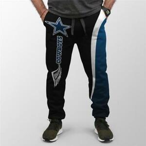 Dallas Cowboys Men Drawstring Jogger Pants Sweatpants Training Workout Trousers