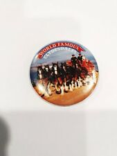 """Clydesdale Horse 2"""" Pin World Famous Clydesdales Pinback Button Vintage Metal"""
