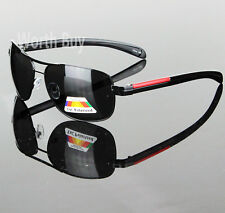 Black Polarized Lens Men Sunglasses Pilot Designer Fashion Outdoor Sport Driving