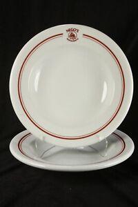 Nego's Restaurante Restaurant China 2 Wide Rim Soup Bowls Sao Joaquim Brazil