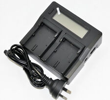 LCD Quick  Battery Charger LP-E6 LP-E6N LC-E6E for Canon 5D 6D 7D Mark 2 60D EOS