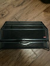 Rubbermaid Desk Office Organizer Mesh Wire Black Metal 5 Slots Used