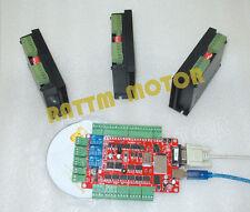 4 axis USBCNC Breakout Board + 3PCS 4A Stepper Motor Driver CNC Controller Kit