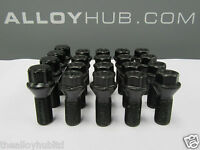 NEW SET OF BMW LOCKING BLACK ALLOY WHEEL NUTS/BOLT SET X20, 1/2/3/4/5/6/7 SERIES