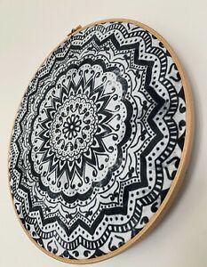 BOHO WALL DECOR, Mandala wall art, Bohemian art, wall hoop art, mandala decor