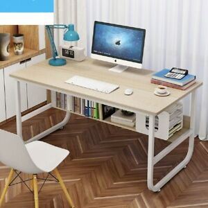 Computer Desk With Shelves Laptop PC Table Home Office Study Workstation UK