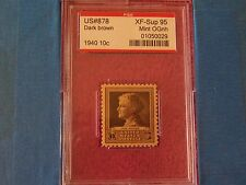 # 878 1940 Jane Adams PSE Encapsulated & Graded XF- Sup 95 MINT OGNH