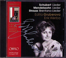 Edita GRUBEROVA Signiert SALZBURG 1980 Schubert Mendelssohn Richard Strauss CD