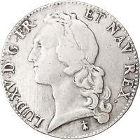 Monnaies, France, Louis XV, Écu au bandeau, Ecu, 1756, Rennes, TB+ #39811