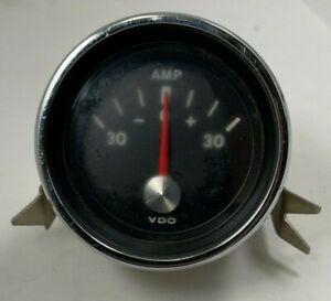 """VDO MARINE Ammeter Gauge 2-3/8"""" Diameter 30 - 0 - 30 Scale 12V - Made in Germany"""