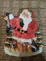 Fitz and Floyd Vintage Christmas Santa Serving Tray Dish