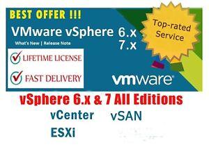 🔥Best Offer🔥VMware ✔ESXi 6-7 Enterprise Plus ✔Unlimited CPUs/vCenter LifeTime✔