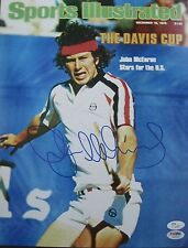 JOHN MCENROE SIGNED SPORTS ILLUSTRATED 11X14 PHOTO JSA COA