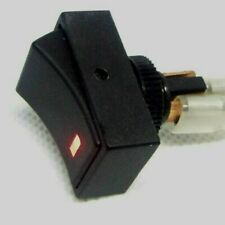12v 25A Red Illuminated Rocker Switch, overall 30 x 19mm.  12MM Hole