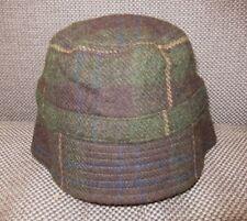 bdec556173e57 J. CREW Green Brown Plaid LAMBS WOOL BUCKET HAT Sun Hiking Women s Cap Sz