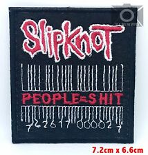 Slipknot People=Shit Metal Music band logo Iron Sew on Embroidered Patch