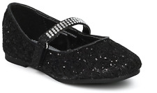 New Girls Black Red Glitter Dress Shoes Flats Christmas Dorothy Kids Youth Party