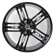 4 GWG Wheels 20 Black Chrome SPADE Rims fits CHEVY COLORADO 2WD V8 ZQ8 2009-2012