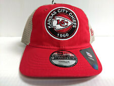 TODDLER Kansas City Chiefs Cap New Era 9Twenty Circle Adjustable Mesh Truck Hat
