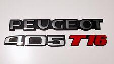 Peugeot 405 T16 Hayon Reproduction Chrome Coffre Badges