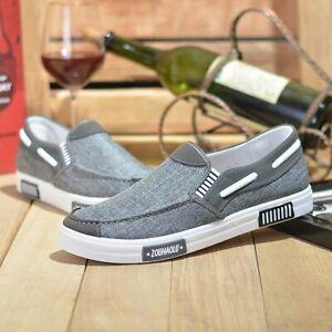 Zapatos De Lona Vaquera Casual Para Hombre Zapatillas Cómodos Mocasines De Moda