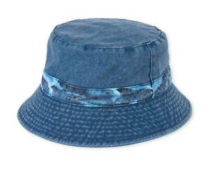 Children's Place Boys Denim Bucket Hat 100% Cotton Sunhat Jeans S/M 4-7 y.o NWT