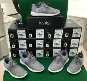 NEW!!  FootJoy Flex Grey/Blue Mens Golf Shoe - 56121 - Multiple Sizes