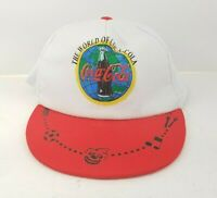 Vintage World of Coca Cola Coke Snapback Red White Trucker Hat Cap