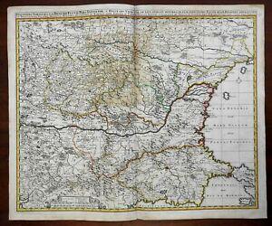 Lower Danube Ottoman Empire Serbia Romania Bulgaria Hungary c 1670 Visscher map