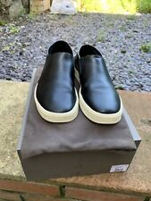 Rick Owens Men's Leather Boat Shoes Slip On Size 8 UK 42 EUR Black Made In Italy