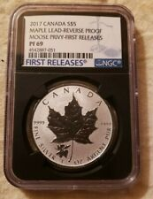 2017 CANADA NGC 1ST RELEASES PF69 REV. PF MAPLE LEAF MOOSE PRIVY S$5!